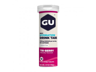 GU Hydration Drink Tabs 54 g - triberry 1 tuba