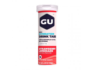 GU Hydration Drink Tabs 54 g - strawberry lemonade 1 tuba