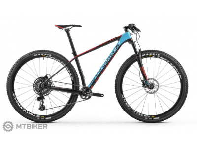 Mondraker CHRONO CARBON R NX 29, carbon/light blue/flame red, model 2018