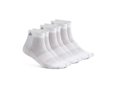 Craft Ponožky Mid 3-pack - 34-36, biele