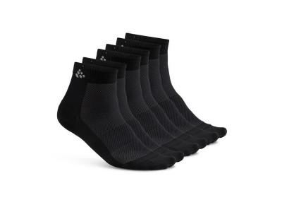 Craft Ponožky Mid 3-pack - 34-36, čierne