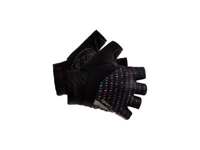 Rukavice Craft Rouleur - 3XS, čierne s farebnou grafikou