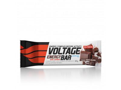 Nutrend tyčinka Voltage Energy Cake 65 g - horká čokoláda s kofeínom