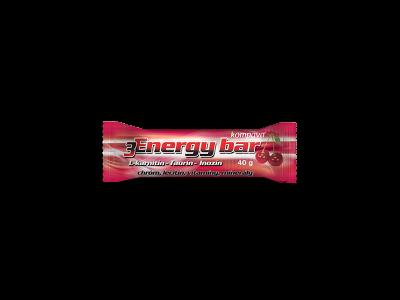 Kompava 3Energy bar 40 g/1 ks - višňa/tmavá poleva