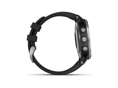 Garmin fénix 5 Plus, Silver, Black band