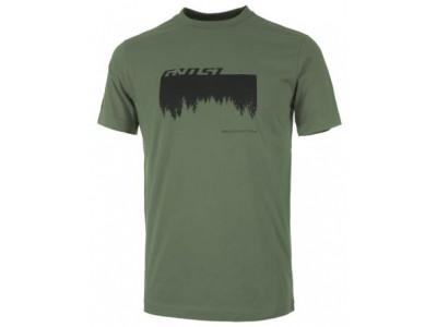 6628be37709d Ghost Tričko   Shirt MTN Casual Line Woods - zelené  čierne