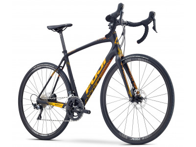 Fuji Gran Fondo 1.5 Satin Black / Orange, model 2019