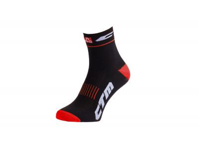 CTM Ponožky XC, čierna/červená - 43-47