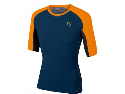 Karpos LAVAREDO Tričko, tmavomodré, oranžové fluo, čierne