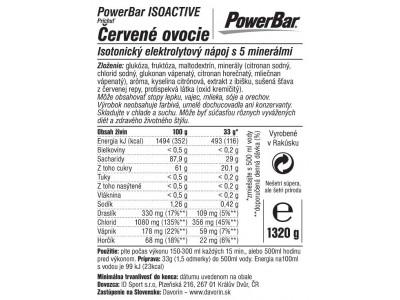 PowerBar IsoActive - izotonický športový nápoj 1320g červené ovocie