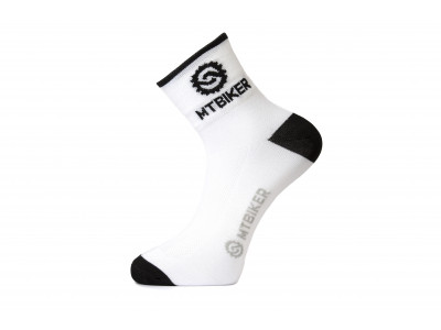 Ponožky MTBIKER - biele S (36-38)