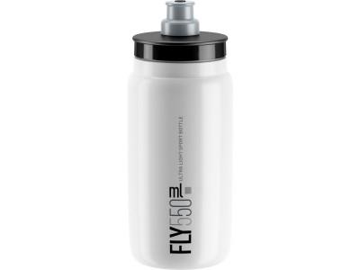 Elite fľaša FLY/kluby 550 ml - biela sivé logo 550 ml