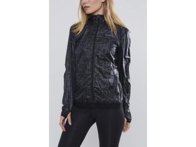 CRAFT Lumen Wind dámska bunda - S čierna s potlačou
