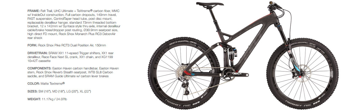 26bf01cd0 Felt - nový modelový rad Decree pre vyznávačov trail a AM jazdenia