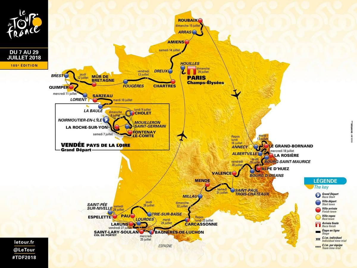 c3adc34458982 Tour de France 2018 s pavé, Alpe d'Huez a tiež možným súbojom Froome ...