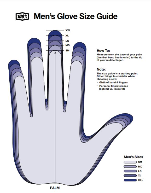 100% rukavice